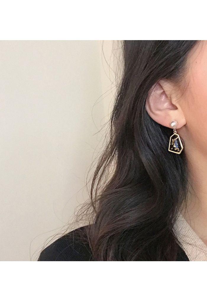 Pearl and Rhinestone Drop Earring