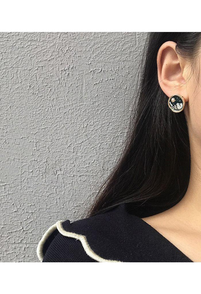 Moon and Sun Earring