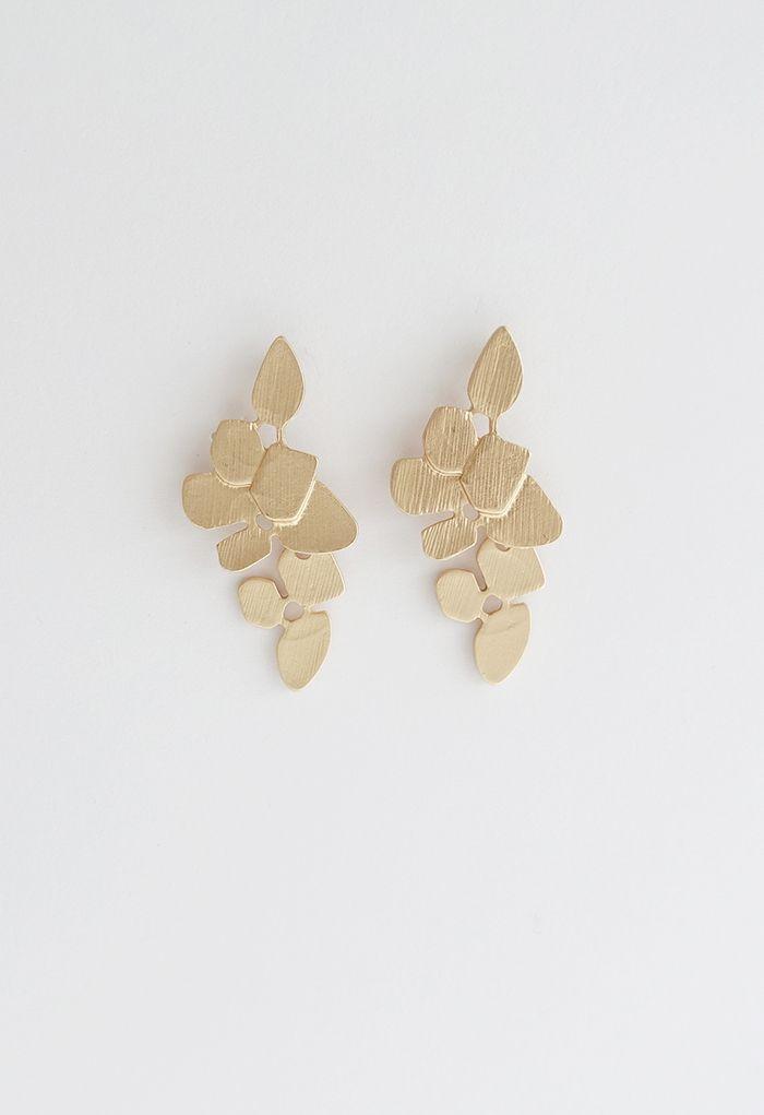 Flower Leaves Drop Earring