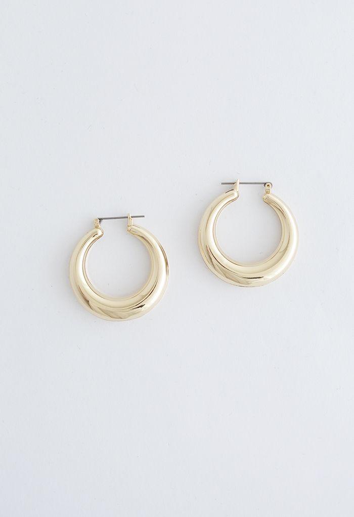 Half Moon Hoop Earrings