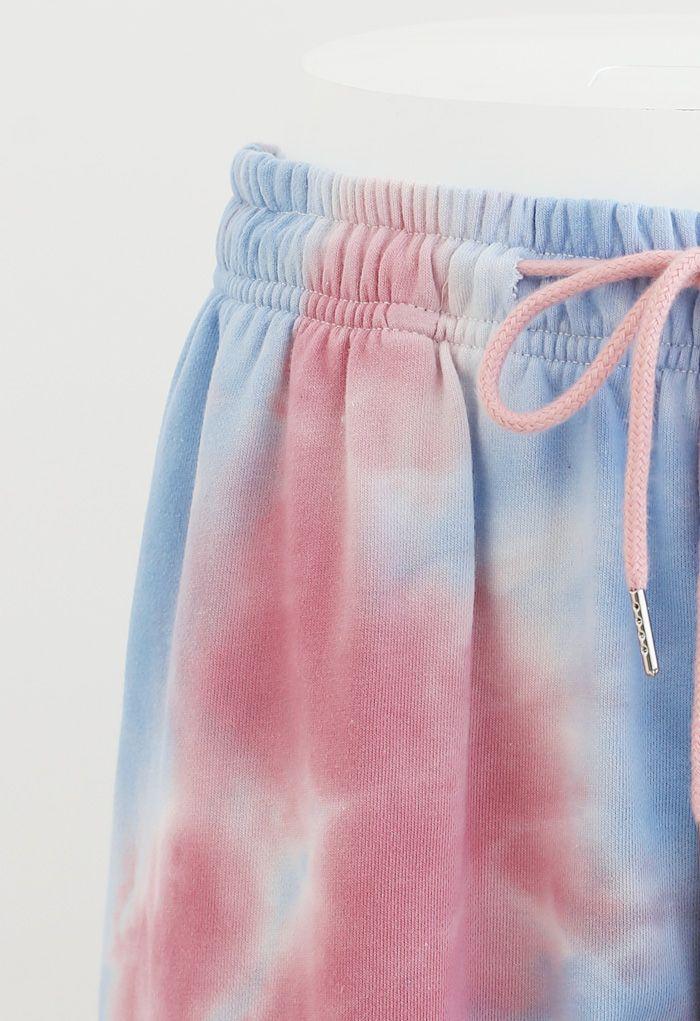 Tie-Dye Drawstring Waist Joggers