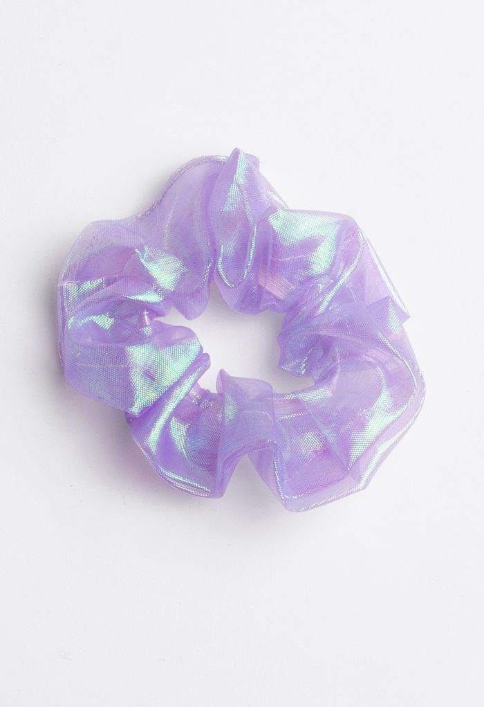 6-Pack Holographic Organza Scrunchies