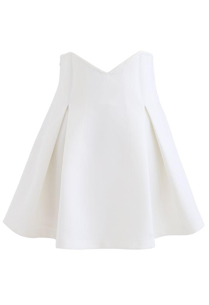 High Waist Corset Pleated Mini Skirt in White