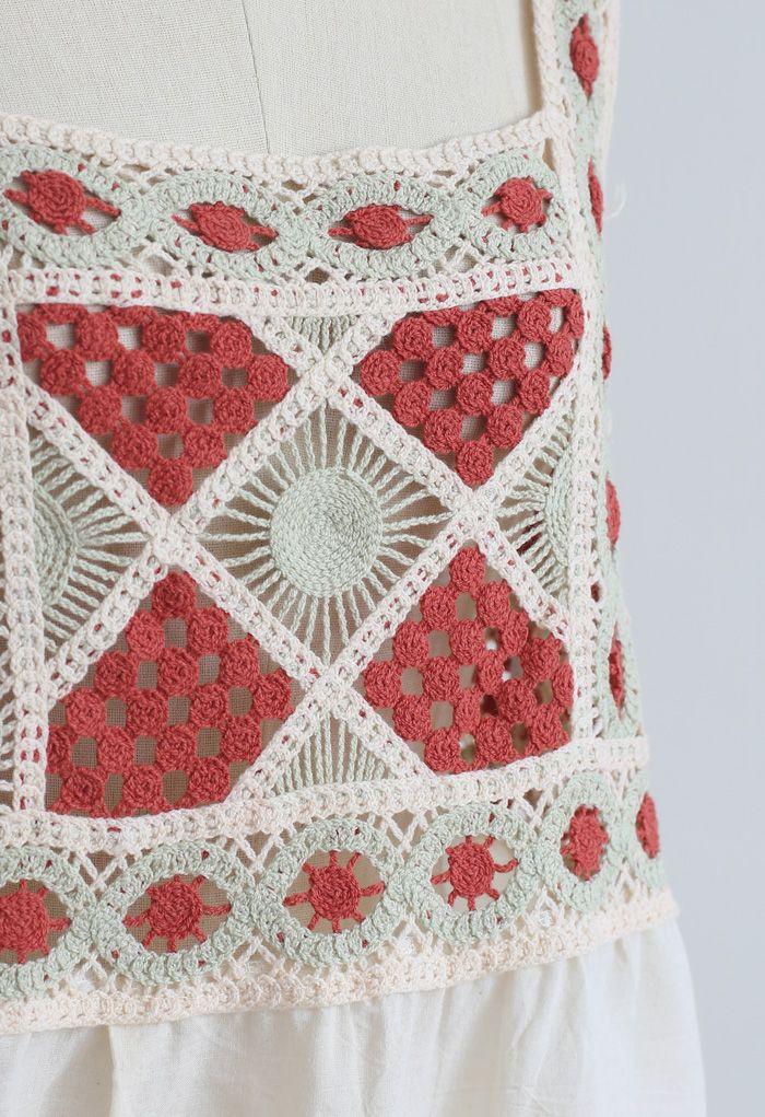 Bohemia Crochet Spliced Tank Top