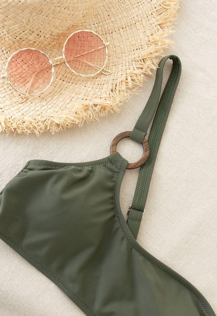 One-Shoulder O-Ring Bikini Set