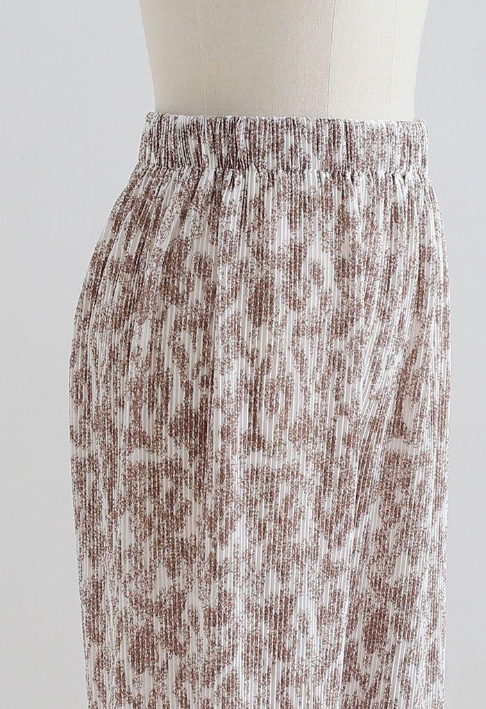 Cozy Wide-Leg Pleated Pants in Caramel