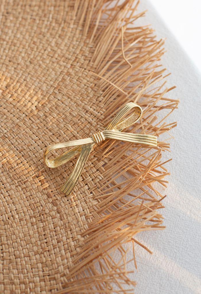 Golden Bowknot Hair Clip