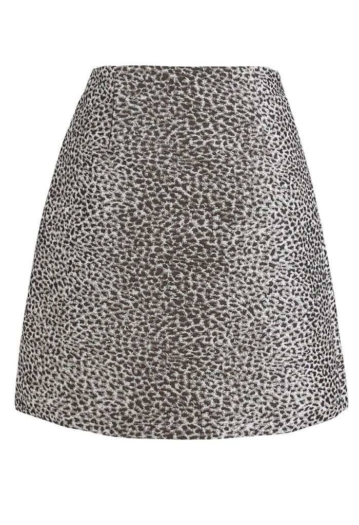 Brown Irregular Dot Mini Skirt