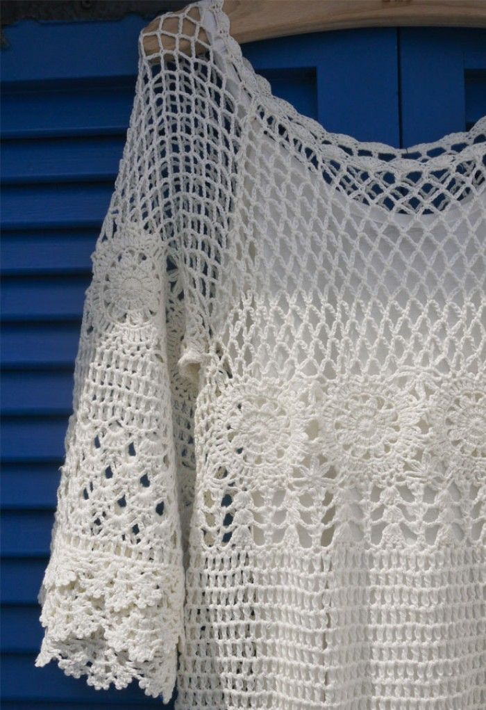 Hand Knit Delicacy of Crochet Dress