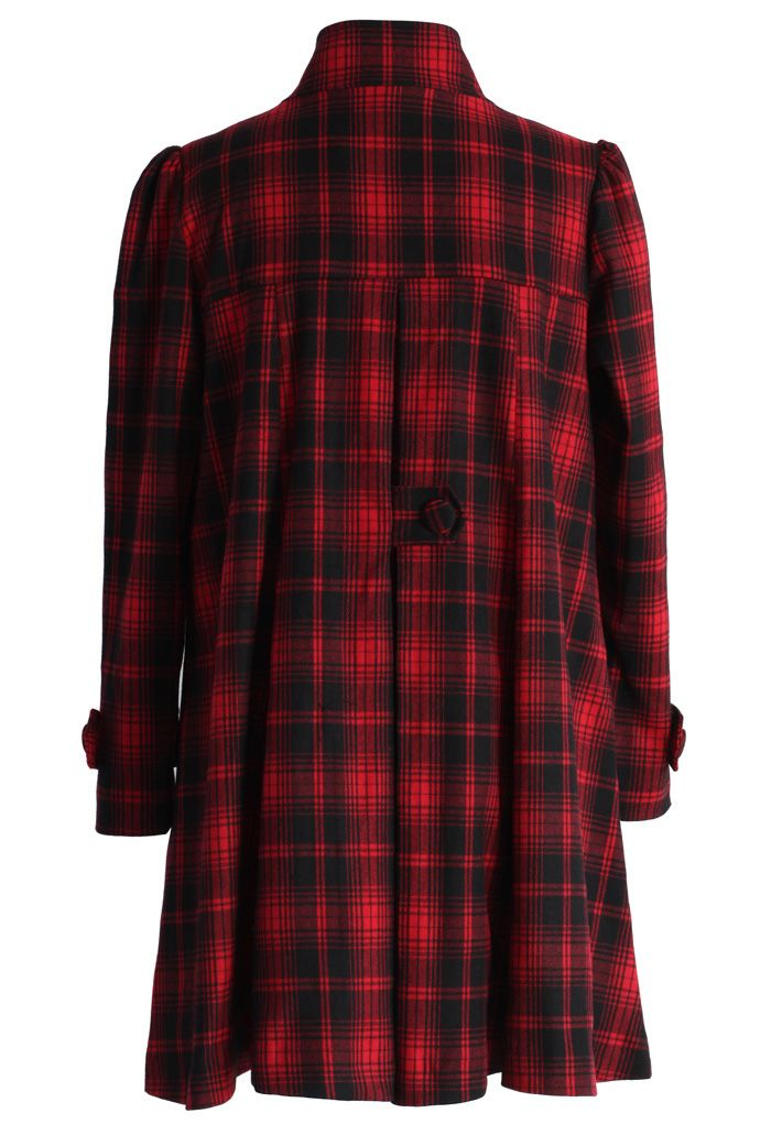 Red Tartan Dolly Dress with Big Bow
