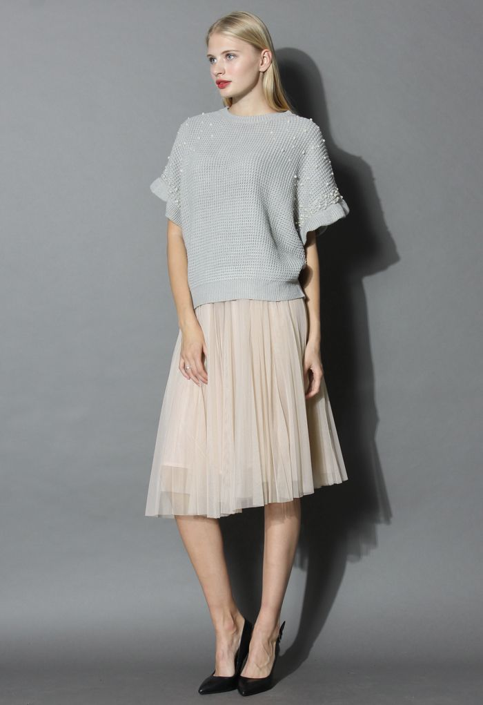 Dreamy Mesh Pleats Tulle Skirt