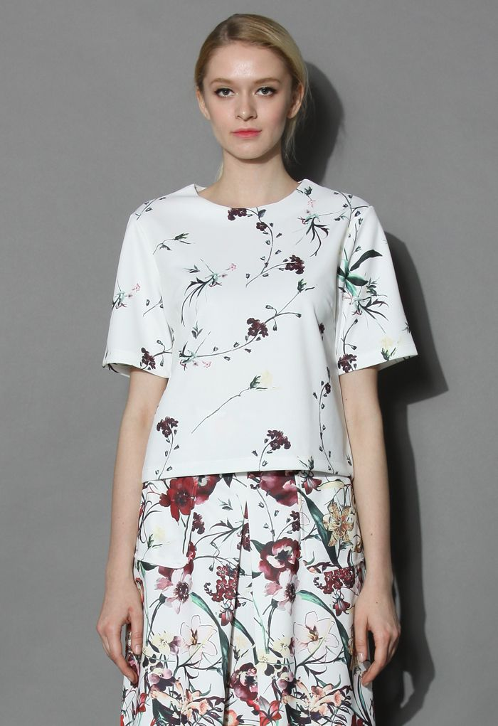 Serenity Floral White top