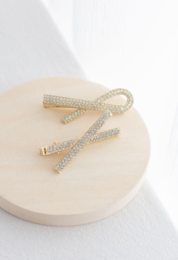 2-Pack Crystal Hair Clips