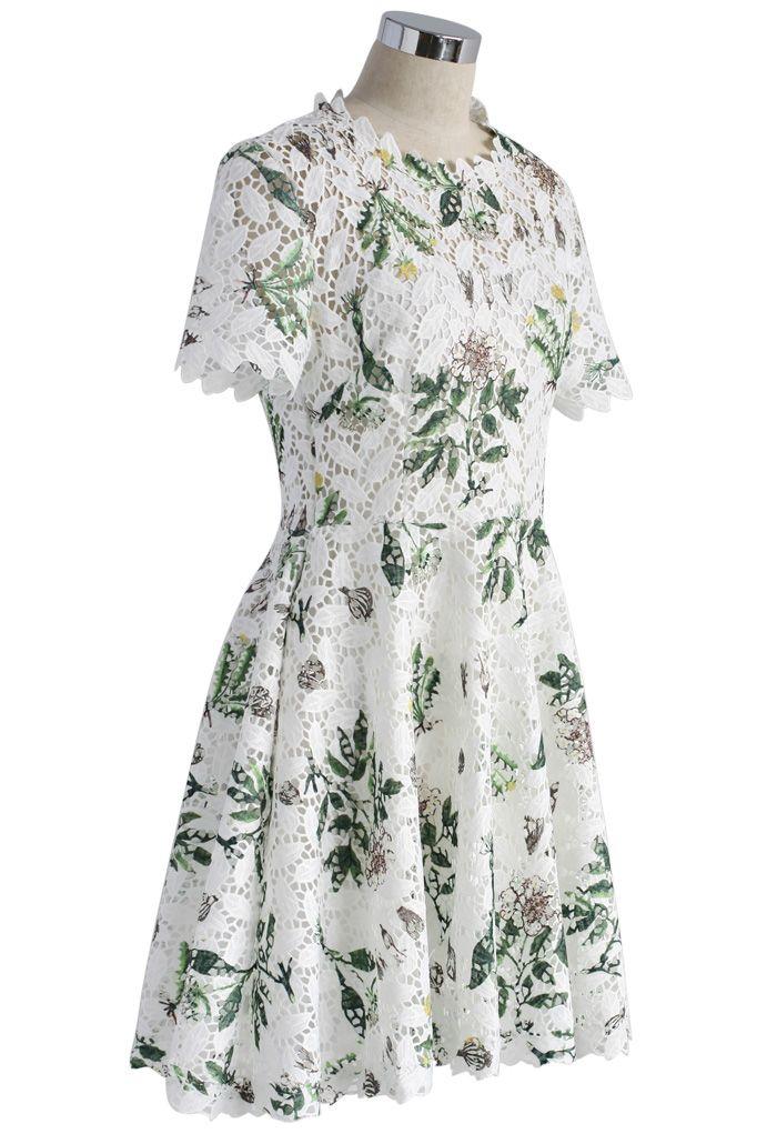 Wildflower Fresh Crochet Flare Dress