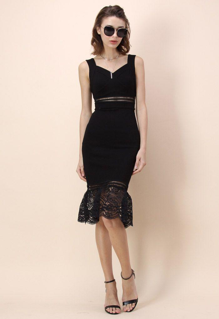 Beyond Perfect Bodycon Dress in Black