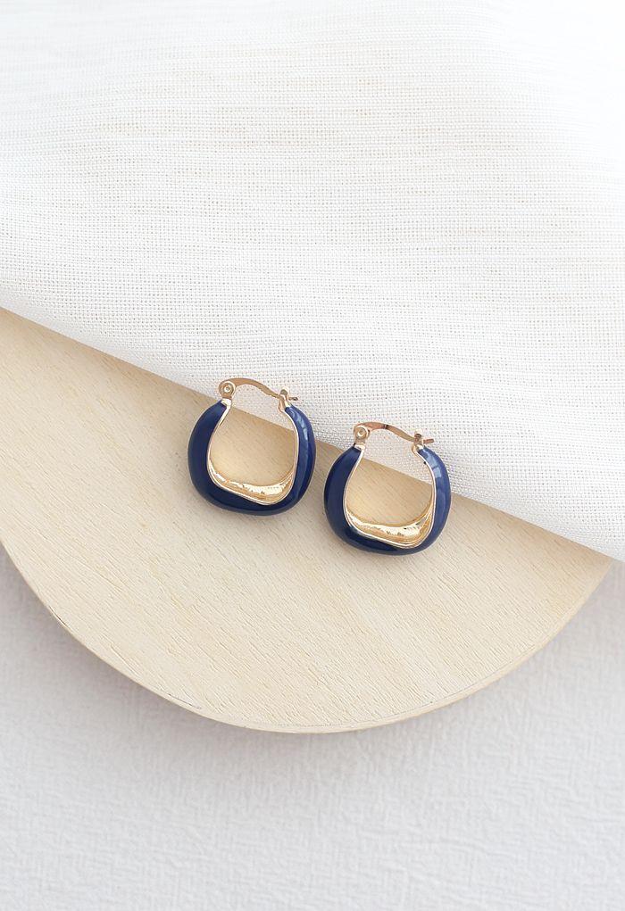 Purple Geometric Earrings