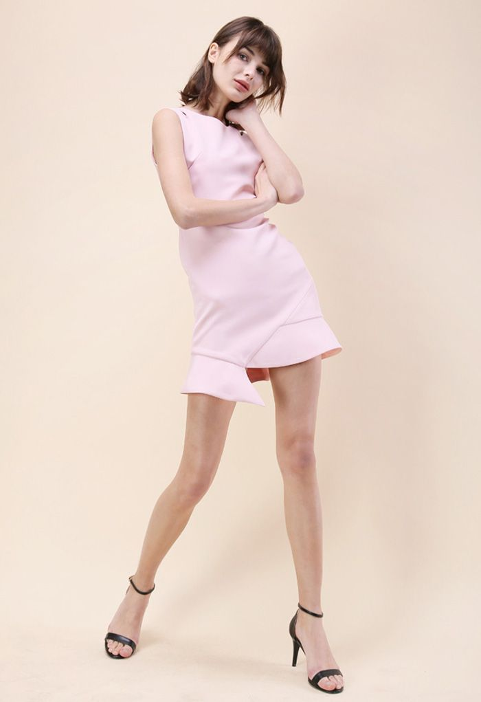 The Epitome of Grace Sleeveless Dress in Pink