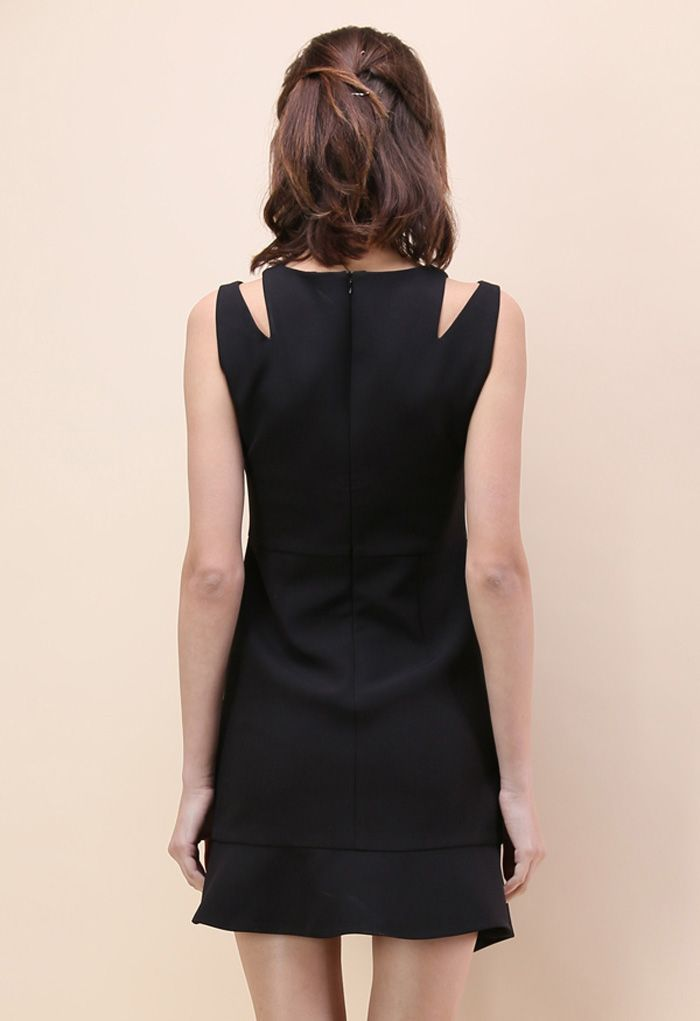 The Epitome of Grace Sleeveless Dress in Black