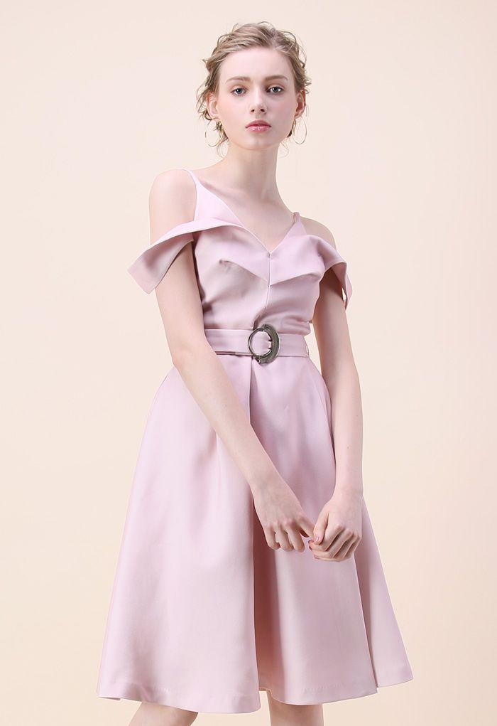Infinite Adore Cold-shoulder Dress in Pink