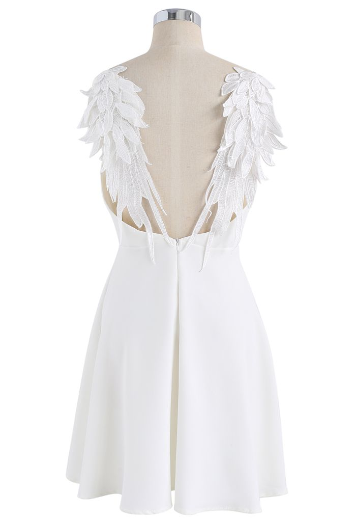 Angel's Wings Cami Dress in White