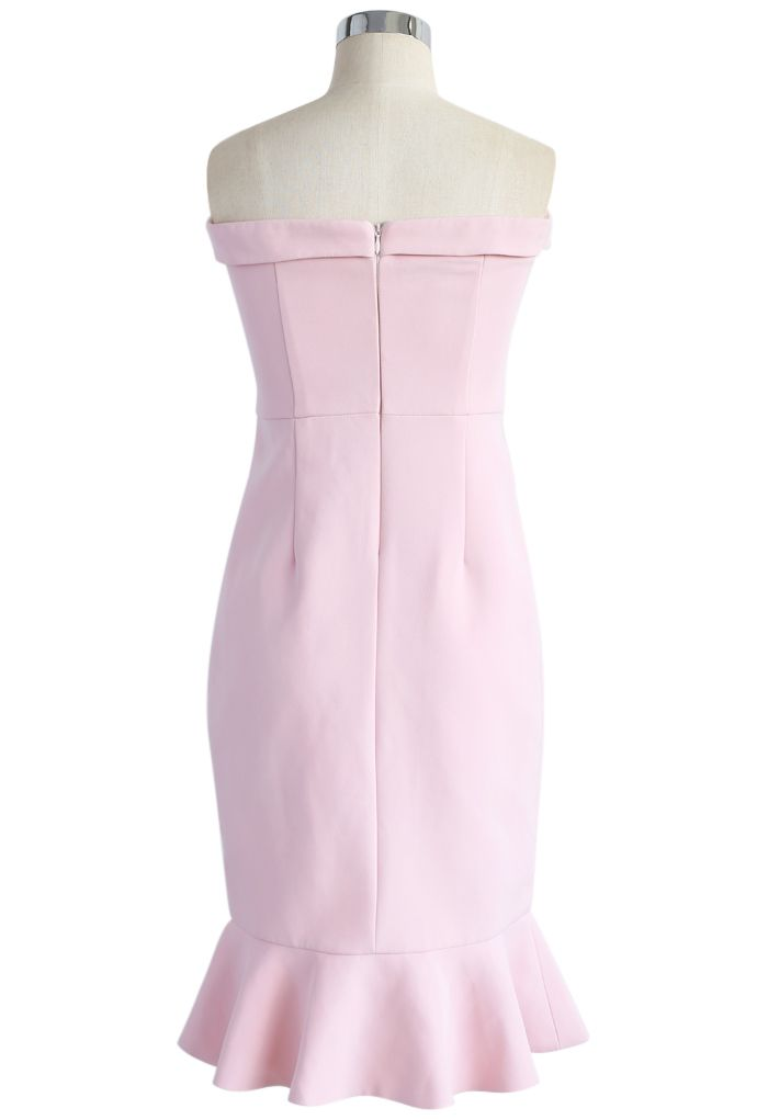 Simple Sophistication Strapless Body-con Dress in Pink