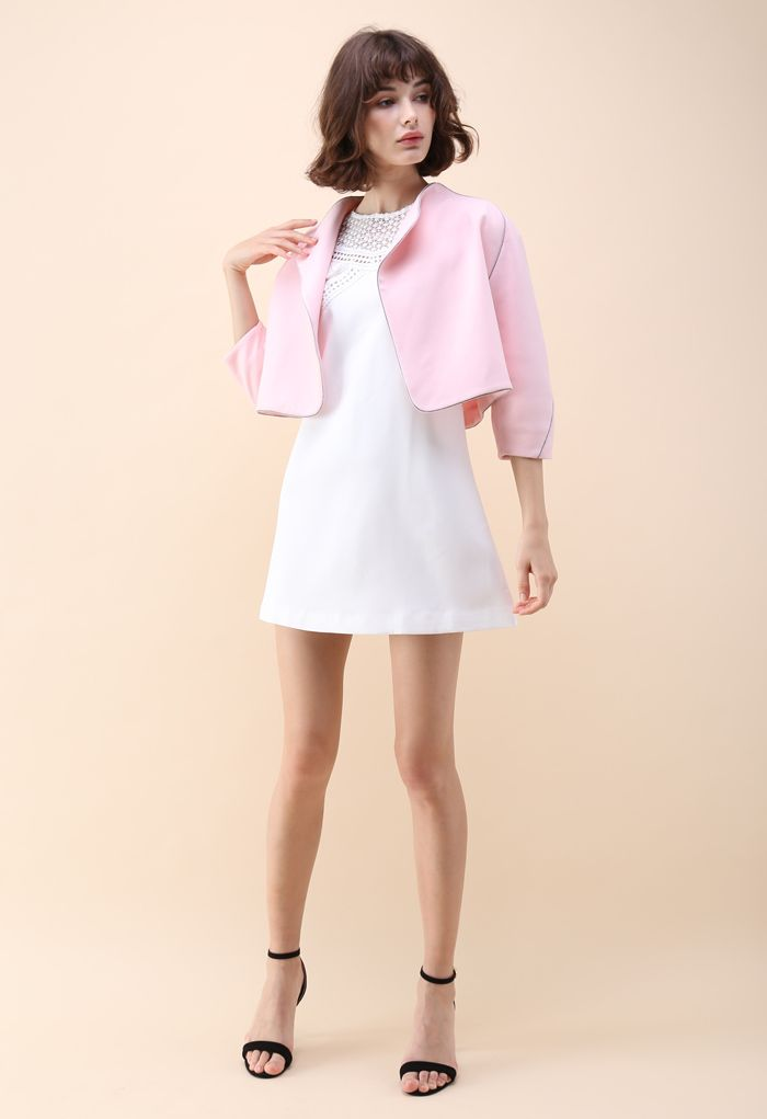 Somebody To Love Cropped Jacket in Pink