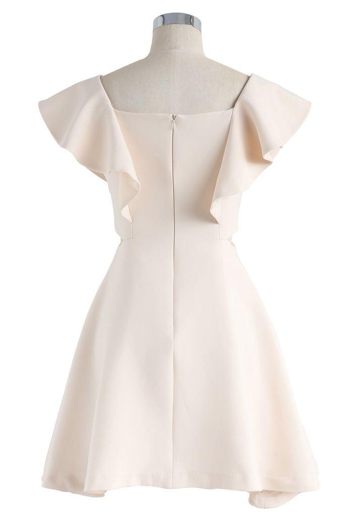 Dance with Sweet Ruffled Dress in Cream