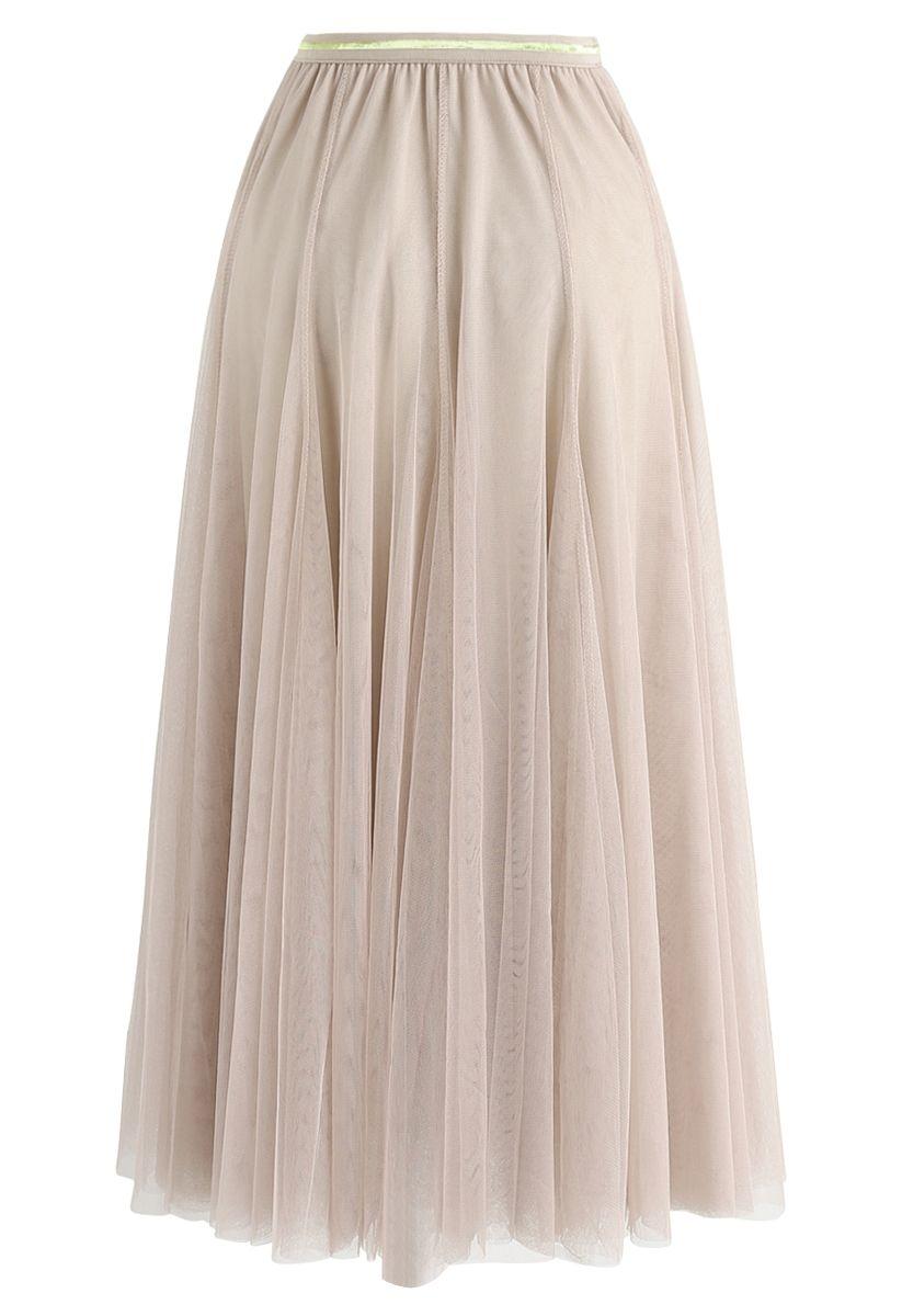 My Secret Garden Tulle Maxi Skirt in Cream