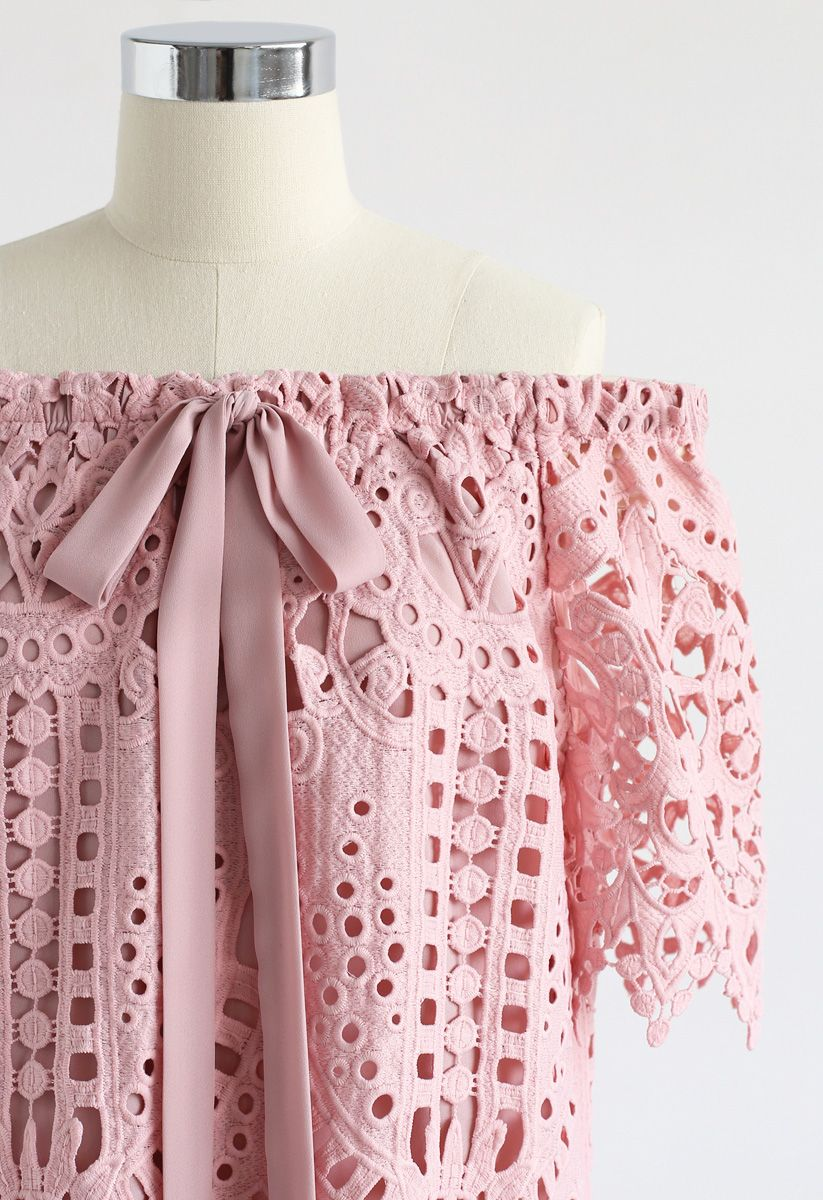 Dream A Little Dream Crochet Top in Pink