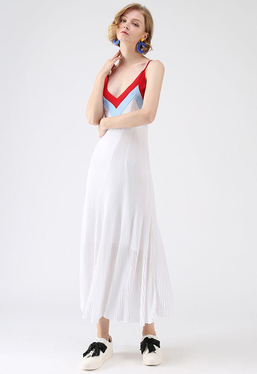 Catch Your Sight V-Neck Knit Maxi Dress