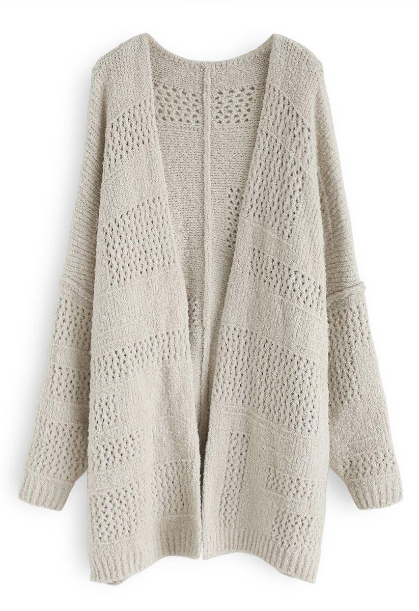Cozy My Heart Open Fluffy Longline Cardigan