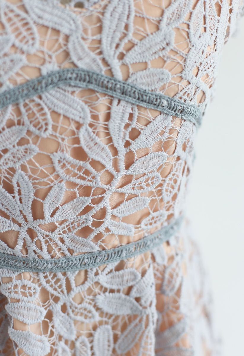 Song For Floral Crochet Cami Dress in Lavender