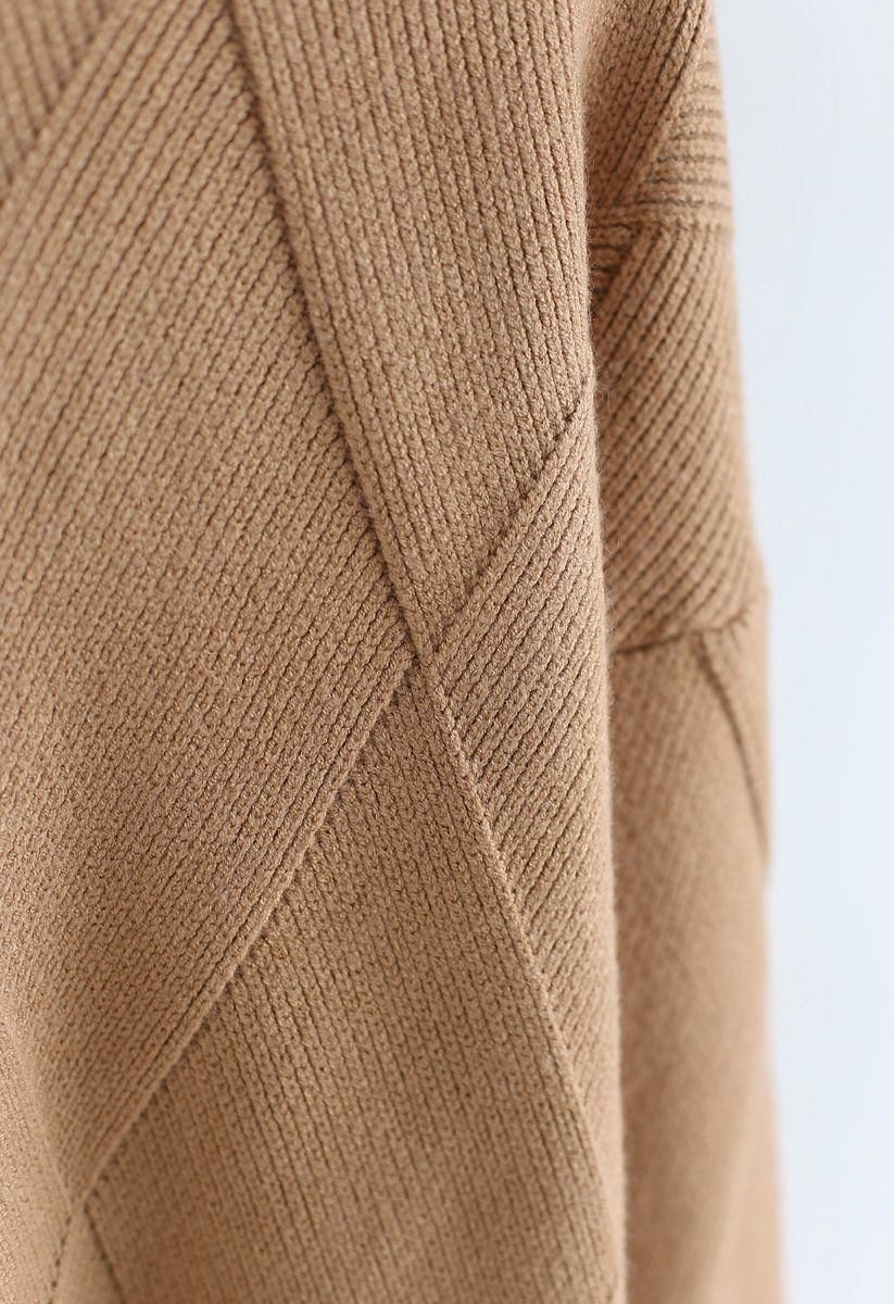 Well Prepared for Winter Knit Sweater in Tan