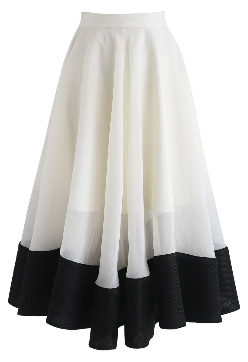 Swing In the Breeze Organza Midi Skirt