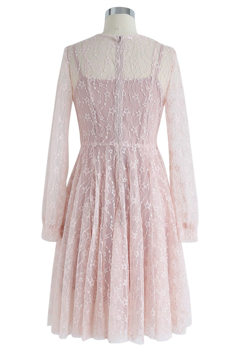 Once Upon a Dream Lace Dress in Pink