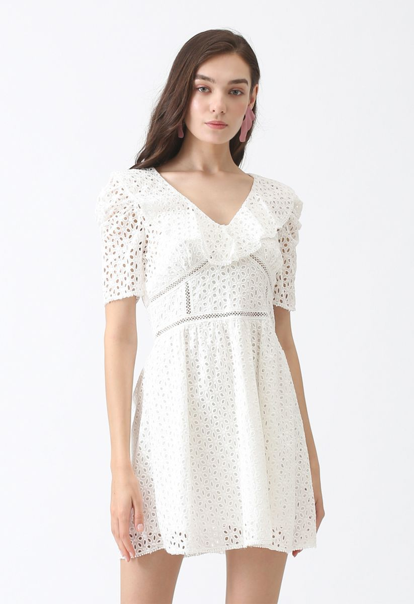 Be the Sunshine Eyelet Flare Dress