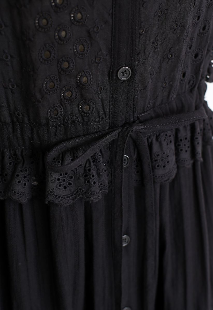 Love For That Embroidered Cami Dress in Black