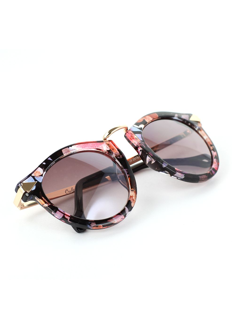 Multi-Color Sunglasses with Metal Detail