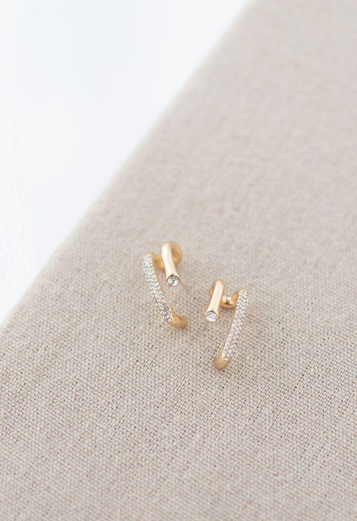 Crystal Trim Geometric Earrings