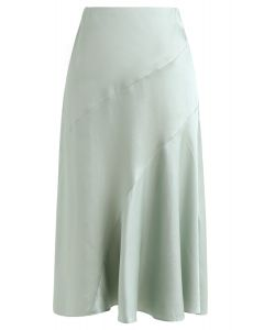 Frill Hem Midi Skirt in Mint