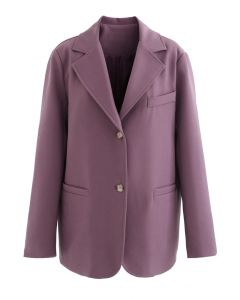 Basic Pockets Blazer in Plum