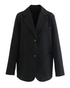 Basic Pockets Blazer in Black