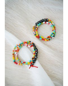 2 Sets Colorful Beads Friendship Bracelets