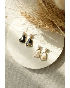 Pearl and Rhinestone Drop Earring
