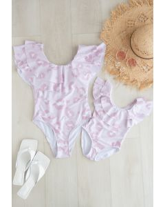 Tiered Ruffle Printed Swimsuit for Mommy & Kids