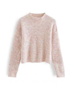 Long Sleeve Fuzzy Rib Knit Sweater