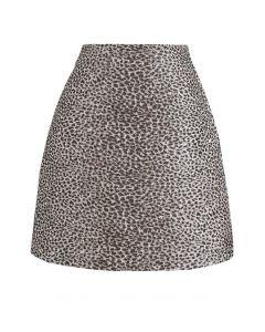 Brown Irregular Dot Mini Skirt
