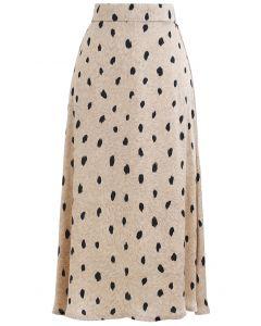 Spotted Dots Midi Slip Skirt