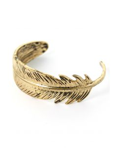 Gold-Plated Feather Cuff