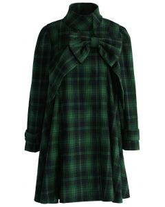 Green Tartan Dolly Dress with Big Bow